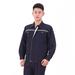 JINYT-0535403贵州工程服定做藏蓝色纯棉面料反光条单层春秋普通工装套装