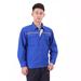 JINYT-0535402贵州工程服定做宝蓝色纯棉面料反光条单层春秋普通工装套装