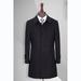 TL500170貴州男大衣定做黑色50羊毛一字領中長款男大衣