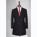 TL500770貴州男大衣定做黑色50羊毛西裝領單排兩扣中長款男大衣
