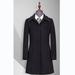 TL500270貴州女大衣定制黑色50羊毛一字領暗門襟扣女大衣