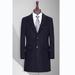 TL500753貴州男大衣定做藏青色50羊毛西裝領平駁頭單排扣兩粒中長款男大衣