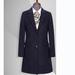 TL500853貴州女大衣定做藏青色50羊毛西裝領單排兩粒扣女大衣