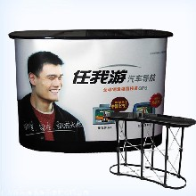 广告展台 拉网前台 广州促销台 折叠接待前台