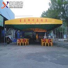 广州天河供应汽车帆布遮阳雨棚伸缩大型仓库雨棚长期供应图片
