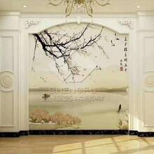 山西环保水转印竹炭背景墙生产 水转印背景墙 质优价廉图片