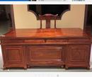 红木案台类办公家具刺猬紫檀28米3米办公台2件套报价大全
