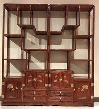 花梨木书房书架类家具刺猬紫檀博古架书架款式敦厚图片