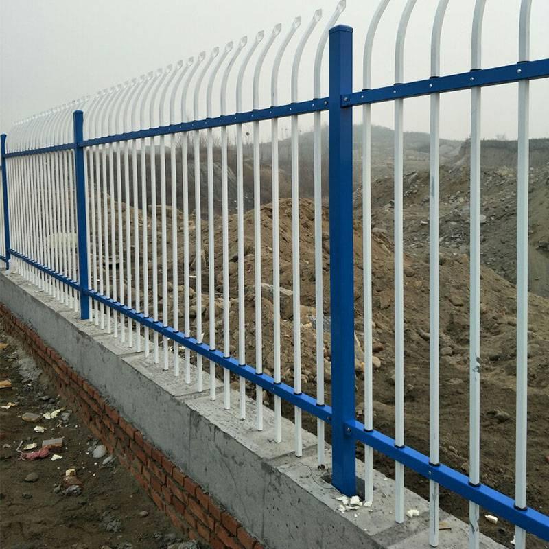 廠家直銷學校圍墻鋅鋼護欄小區廠區圍墻圍欄外墻防護柵欄