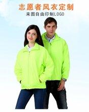 志愿者義工戶外活動加厚復合白邊風衣12色CF601廣告風衣圖片
