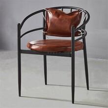 万宁市工业风铁艺美式烧烤店椅子