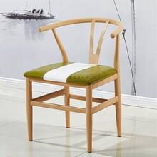 南宁市菜馆烤鱼店家具木纹转印A椅子