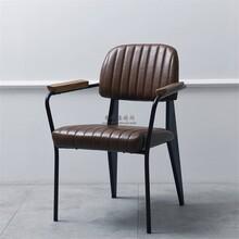白沙县美式工业风铁艺酸菜鱼店椅子