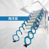 广州定做复式楼梯电动伸缩楼梯 伸缩楼梯 全国上门安装