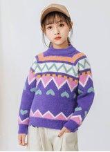批发尾货韩版儿童毛衣卡通字母加厚长袖童毛衣杂款针织衫宝宝毛衣图片