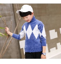 厂家批发库存童装韩版长袖杂款毛衣卡通字母圆领儿童毛衣地摊货源图片