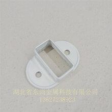 南京锌钢围栏栅栏横管连接固定底座厂家直销 35*35方管图片