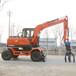 海南省直轄二手久鼎源輪式挖掘機小型輪胎式挖掘機