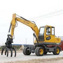 鹤壁优质久鼎源轮式挖掘机,轮式小型挖掘机图片