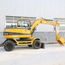 玉树供应久鼎源轮式挖掘机,小型轮胎式挖掘机图片