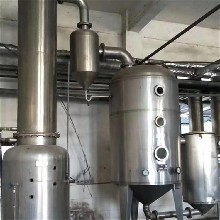 回收销售二手双效蒸发器的工作流程图图片