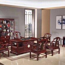 高端红木家具品牌阔叶黄檀印尼黑酸枝金镶玉茶台价格图片