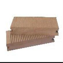 明太塑木¤地板,佳木斯140*40实心塑�木地板图片