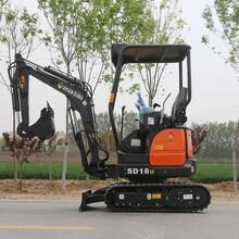 18型履帶伸縮小挖機 帶機械快換的小挖機 價格大全圖片