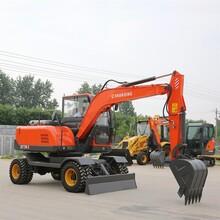 深圳供應75輪式小型挖掘機價格 輪胎挖掘機 價格大全圖片