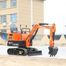 东莞12D小型挖掘机报价 胶履带小型挖掘机 大棚深翻图片