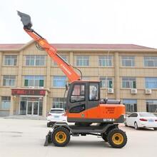 全自动75轮式小型挖掘机电话 90轮式抓木机 生产厂家图片