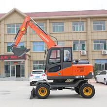 杭州知名75轮式小型挖掘机电话 轮式抓棉机 进口配置图片