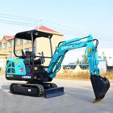 杭州17B小型挖掘机 国产小挖机 农用小型挖掘机厂家图片