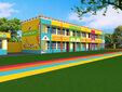 红黄蓝墙绘墙体彩绘,张家界承接幼儿园墙体彩绘图片