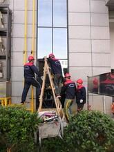 東莞高空外墻玻璃安裝玻璃幕墻維修更換玻璃拆除圖片