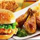 西餐炸雞漢堡圖