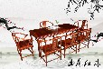 王義紅木緬花梨餐桌,博雅之軒王義紅木大紅酸枝餐桌木料真