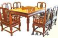 王義紅木緬花梨明式餐桌,青島定制緬花梨餐桌椅做工美觀