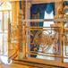 長沙別墅富貴牡丹系列純銅鍍金樓梯銅藝雕刻樓梯護欄 廠家直銷