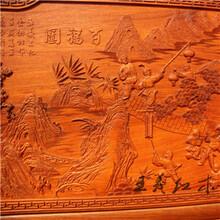 王义红木交趾黄檀衣柜,真材实料大红酸枝衣柜红木本色图片