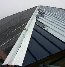 1.1mm厚铝镁锰板矮立边YX25-300 海蓝色深灰色专业定制图片
