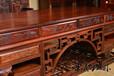 王義緬甸花梨書桌紅木書房家具多功能書桌椅四大圣人書柜
