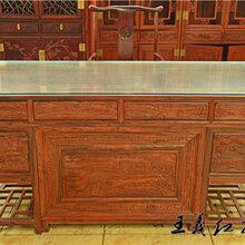 王义红木交趾黄檀书桌,济南正宗王义红木缅甸花梨书桌图片