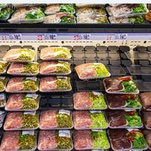 烏魯木齊合作火鍋燒烤食材超市圖片