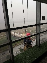 長沙外墻玻璃拆除安裝電話 外墻玻璃維修安裝圖片