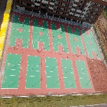 速瑞塑胶跑道,赤峰速瑞学校幼儿园塑胶人造草图片