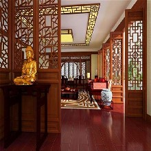 中式木紋鋁窗花