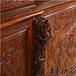 濰坊王義紅木古典書桌,大紅酸枝辦公桌書柜套裝