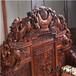 棗莊王義紅木緬花書桌,緬甸花梨辦公桌造型美