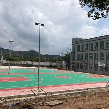 晋城速瑞学校硅pu丙烯酸篮球场网球场羽,塑胶跑道